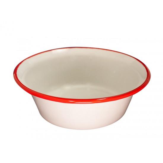 Конусовидна купа Ретро, 20 см, крем/червено, Horecano