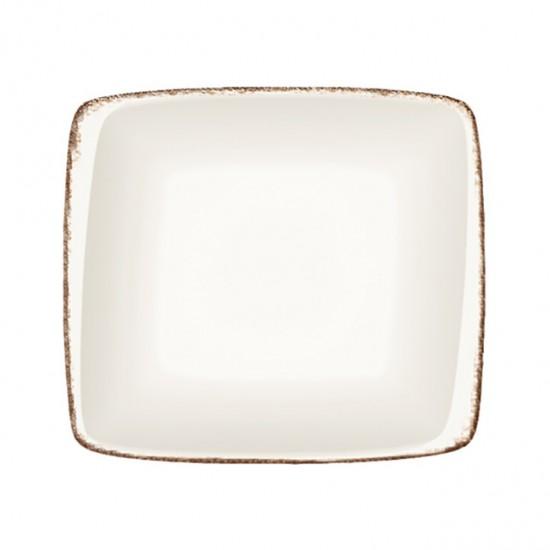 Дълбока правоъгълна порцеланова чиния RETRO, 19 х 17 см, BONNA Турция