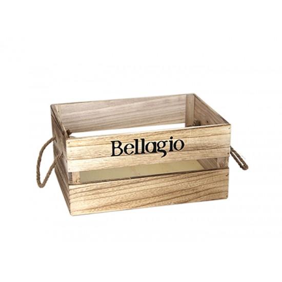 Дървена касетка BELLAGIO, бежова, 26 х 17 х 13 см, Horecano