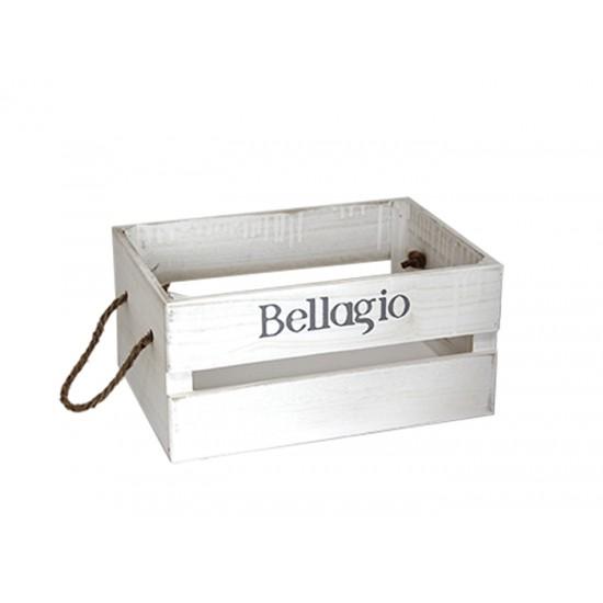 Дървена касетка BELLAGIO, бяла, 26 х 17 х 13 см, Horecano