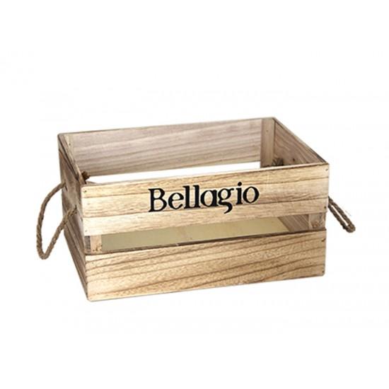 Дървена касетка BELLAGIO, бежова, 31 х 21 х 15 см, Horecano