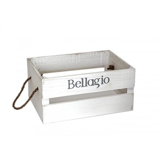 Дървена касетка BELLAGIO, бяла, 31 х 21 х 15 см, Horecano