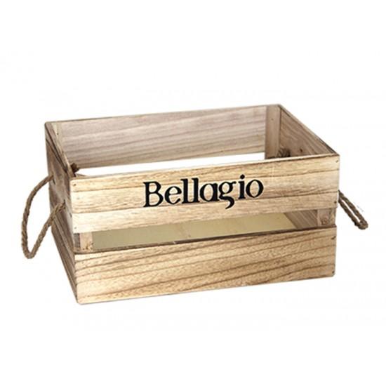 Дървена касетка BELLAGIO, бежова, 36 х 25 х 17 см, Horecano