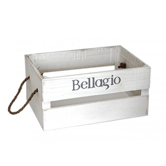Дървена касетка BELLAGIO, бяла, 36 х 25 х 17 см, Horecano