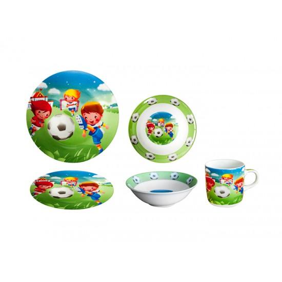 Детски порцеланов сервиз в 3 части ФУТБОЛИСТ