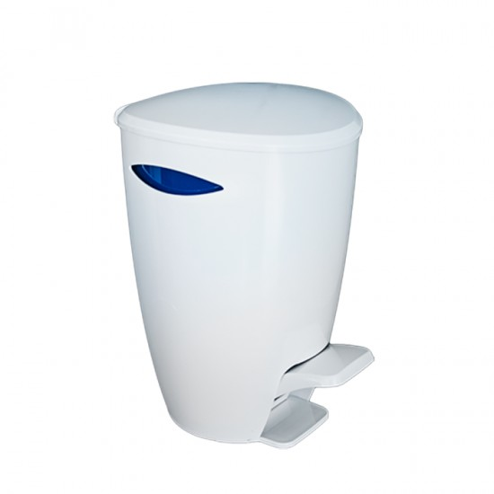 Кош за отпадъци FELY с педал в бяло и синьо, PRIMANOVA Турция