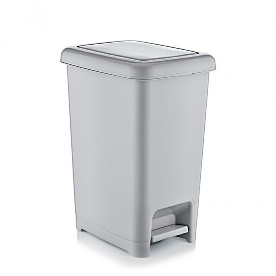 Кош за отпадъци SLIM с педал, 15 литра, мрамор, DUNYA Турция
