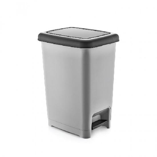 Кош за отпадъци SLIM с педал, 25 литра, сив, DUNYA Турция