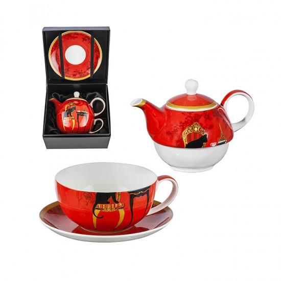 Комплект за чай Черна котка, за 1 човек, Lancaster Taste Collection