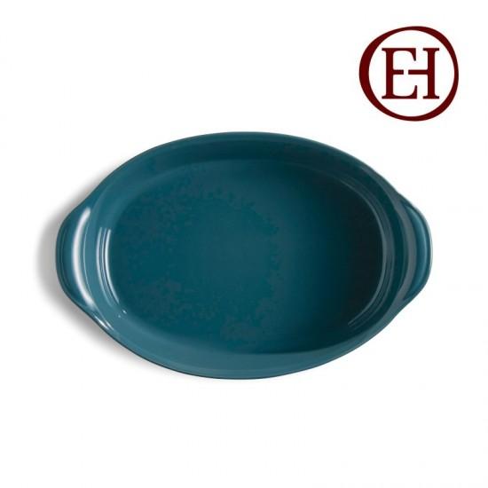 Керамична тава овал синя, Emile Henry, Франция