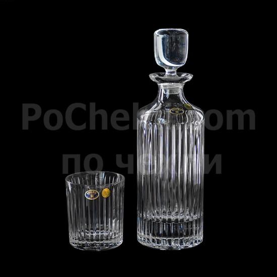 Кристален сервиз за уиски Skyline 7 части, Crystal Bohemia