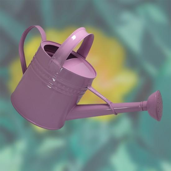 Декоративна метална лейка, 5 литра, розова, FERONYA