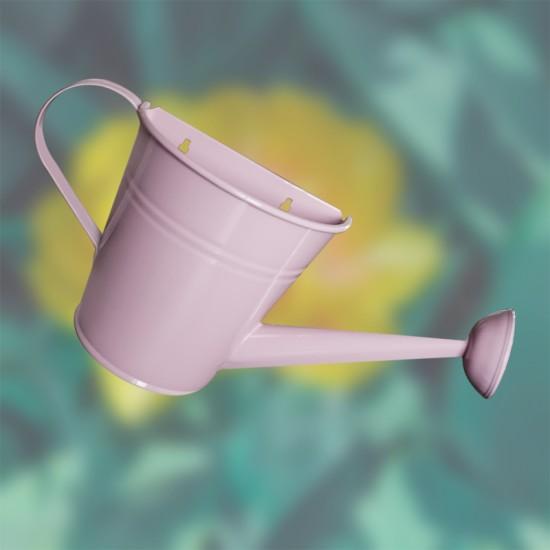 Декоративна саксия за стена Лейка, розова, FERONYA