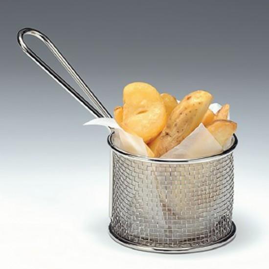 Кошничка за сервиране на чипс, 9 х 7,5 см, кръгла