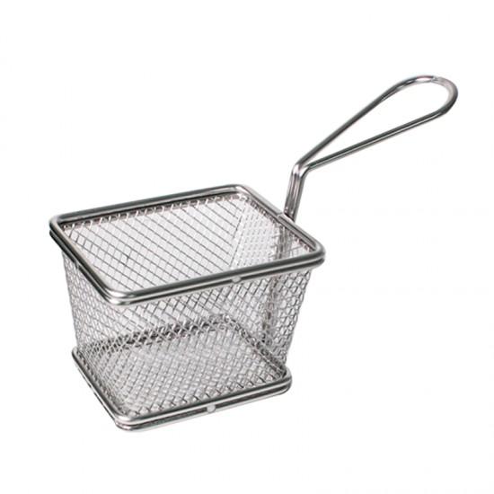 Кошничка за сервиране, 10 х 8 см, правоъгълна