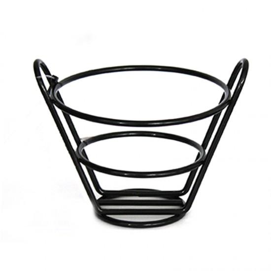 Кошничка за сервиране, 13 х 11 см, конусовидна, черна