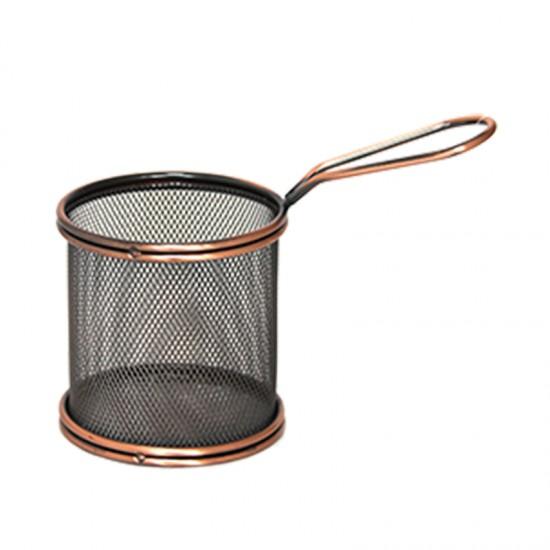 Кошничка за сервиране, кръгла, 9 х 9 см, ковано желязо