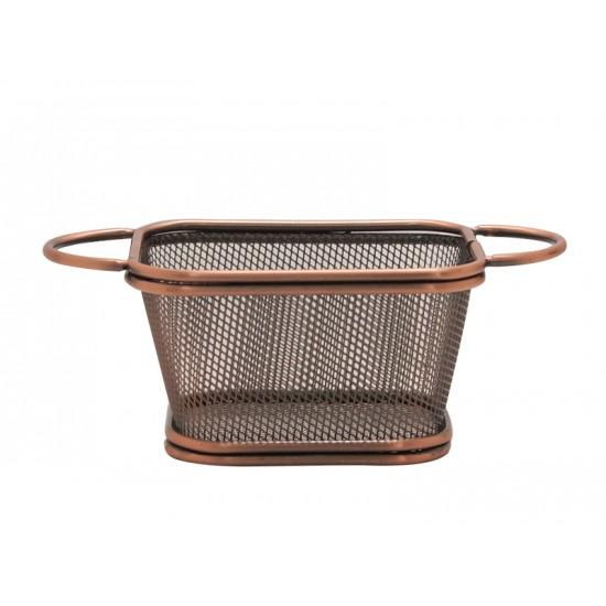 Кошничка за сервиране с 2 дръжки, 10,5 х 9 см, ковано желязо