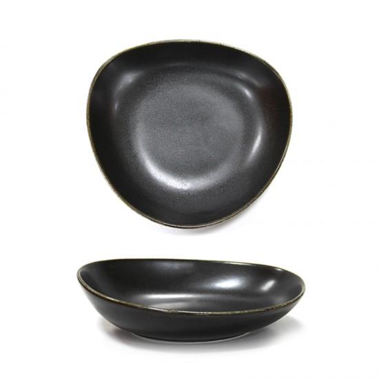 Дълбока порцеланова чиния ANTIQUE BLACK, 23 см