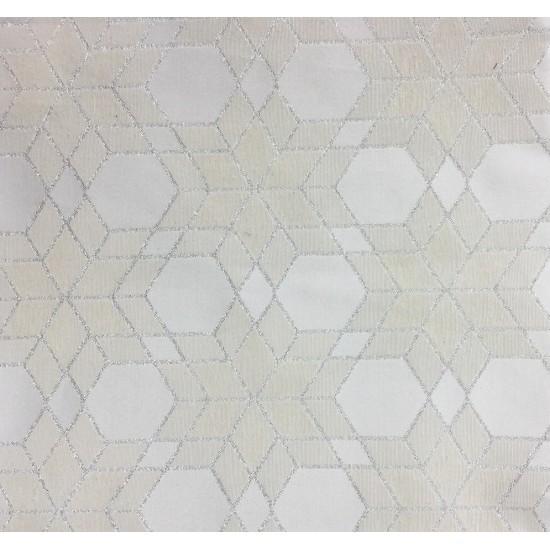 Коледен тишлайфер Снежинки в бяло 35*140 см