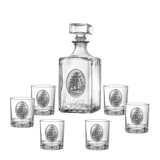 Комплект за уиски ФРЕГАТА 7 части, Artina Австрия