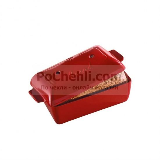 Керамичен съд за печене на хляб червен, Emile Henry Франция