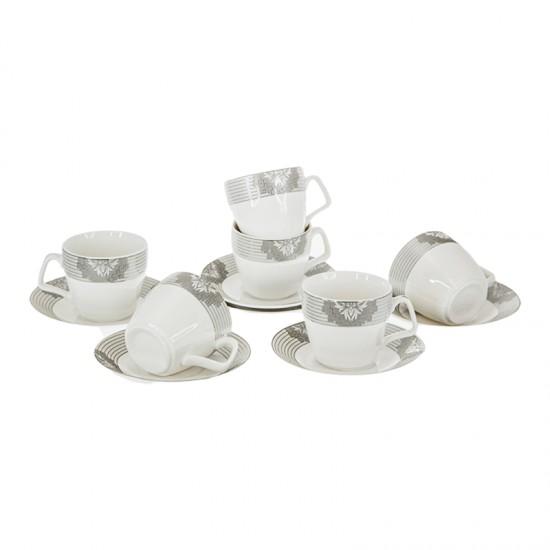 Керамичен сервиз за кафе СИВИ ЛИНИИ, 6 души