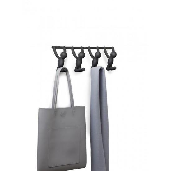 Закачалка за врата BUDDY с 4 кукички, черна, UMBRA Канада