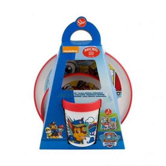 Детски сервиз за хранене ПЕС ПАТРУЛ в 3 части