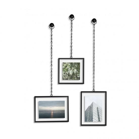 Комплект рамки за снимки FOTOCHAIN, 3 броя, черни, UMBRA Канада