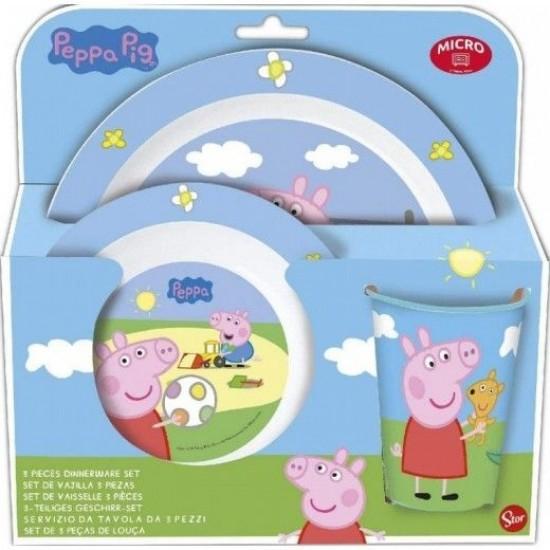 Детски сервиз за хранене PEPPA PIG, 3 части