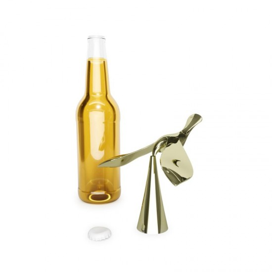 Балансираща отварачка за бутилки TIPSY, златиста, UMBRA Канада