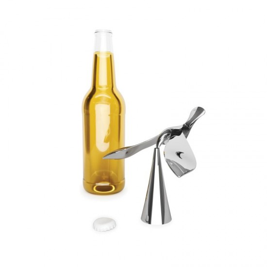 Балансираща отварачка за бутилки TIPSY, хром, UMBRA Канада
