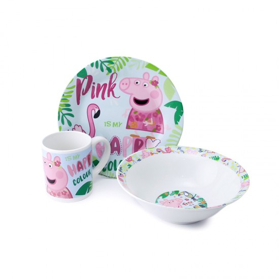 Детски порцеланов сервиз за хранене PEPPA PIG, 3 части