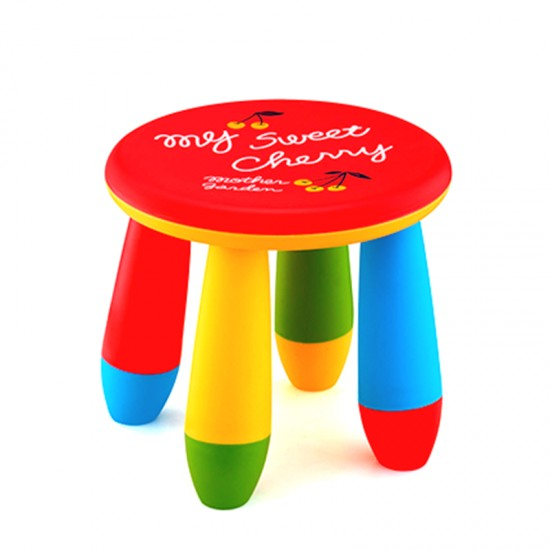 Детско столче, кръг червено