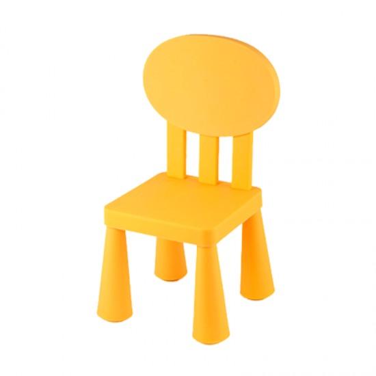 Детско столче с овална облегалка, жълто