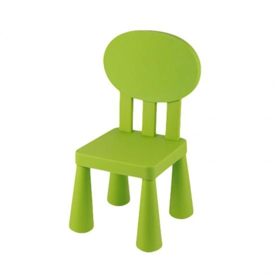Детско столче с овална облегалка, зелено