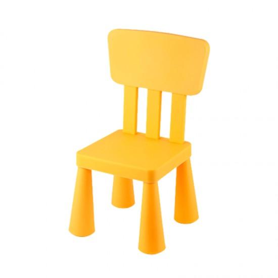 Детско столче с правоъгълна облегалка, жълто