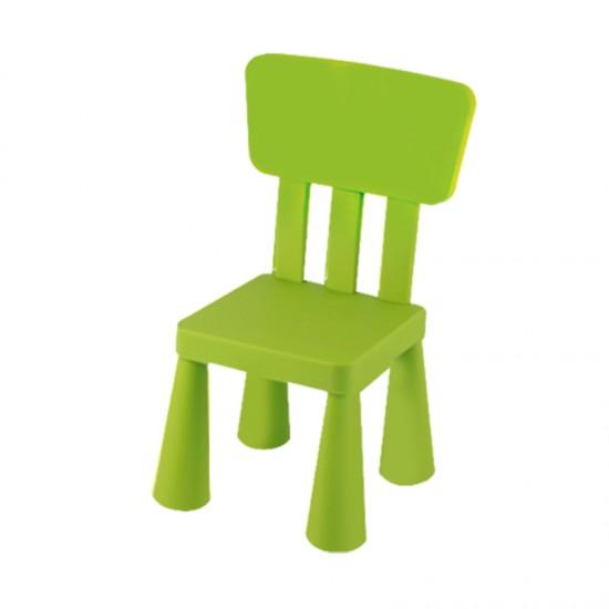Детско столче с правоъгълна облегалка, зелено
