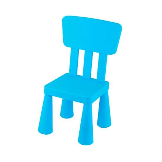 Детско столче с правоъгълна облегалка, синьо