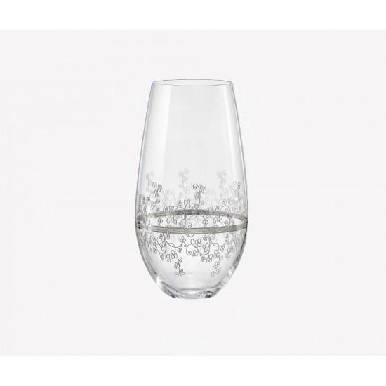 Гравирани чаши за вода Viola Platinum 350 мл, CRYSTALEX BOHEMIA, Чехия