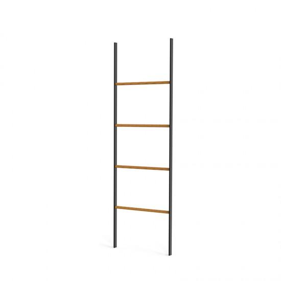 "Закачалка за хавлии тип ""стълба"" BLACK MATT с бамбукови рамена, 157 х 50 см"