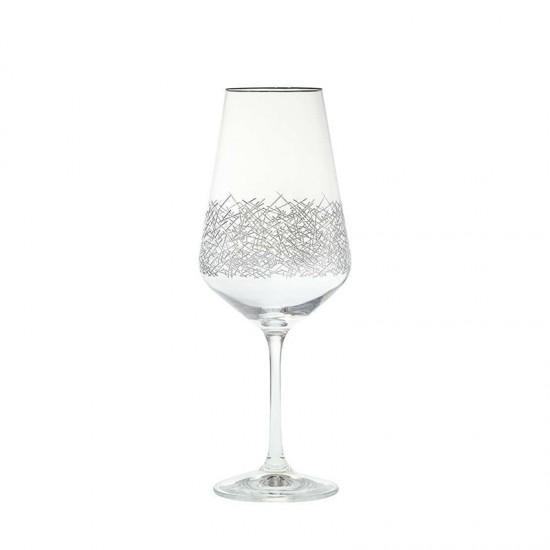 Гравирани чаши за червено вино SANDRA, 550 мл., 6 броя, BOHEMIA