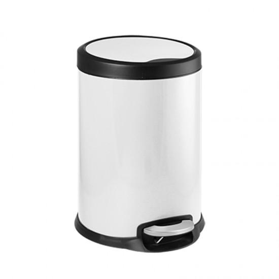 Кош за отпадъци FANTASY с педал, 12 литра, бял