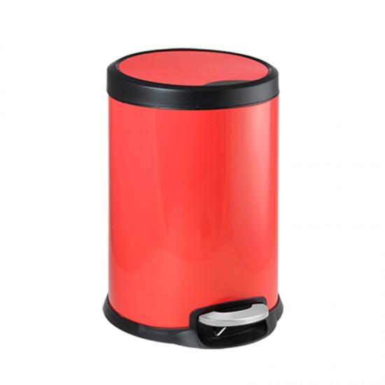 Кош за отпадъци FANTASY с педал, 12 литра, червен