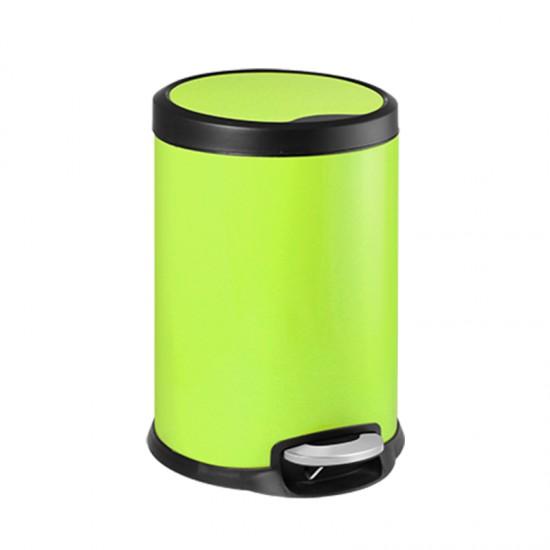 Кош за отпадъци FANTASY с педал, 5 литра, зелен