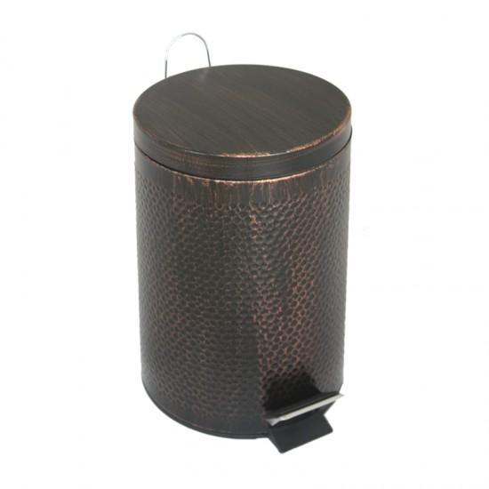 Кош за отпадъци с педал и облицовка от ковано желязо, 5 литра