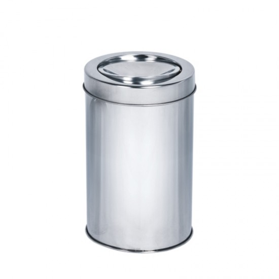 Кош за отпадъци с люлеещ се капак, 5 литра, инокс