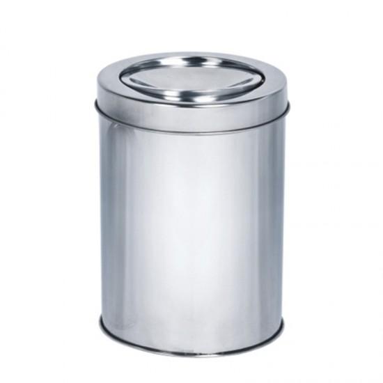 Кош за отпадъци с люлеещ се капак, 3 литра, инокс