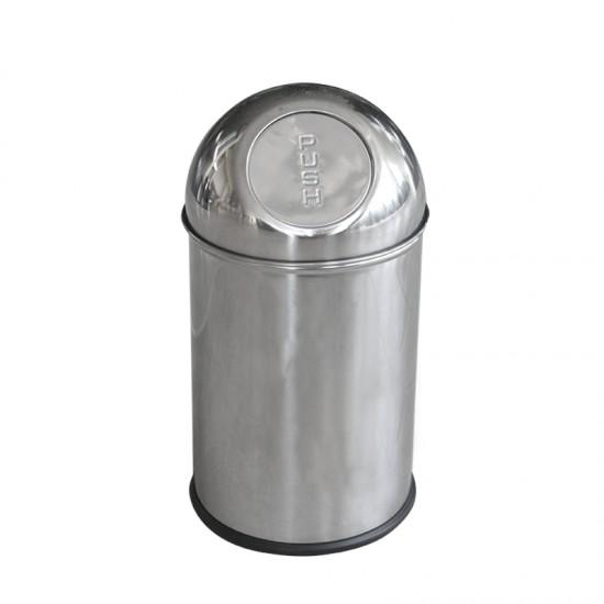 Кош за отпадъци PUSH, 7 литра, хром